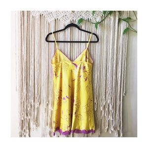La SENZA Intimates & Sleepwear - La Senza Yellow & Purple Mini Floral Slip Dress